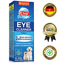 Cliny Universal Eye Cleaner for Dogs and Cats – Natural Treatment for Eye Infection and Effective Tear Stain Remover