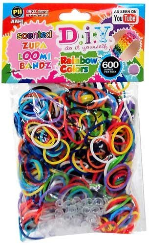 600 Count Scented Rainbow Color Loom Bands Refill Pack
