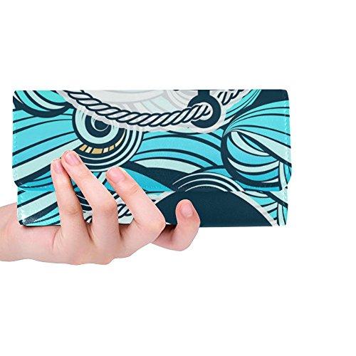 Women's Foam Water Octopus Of Waves Wallet Clutch Waves Long Meow Trifold Sea Great Women's Silly Splashes Custom Wallets Gift and TxqI8w