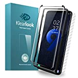 Galaxy S9 Plus Screen Protector Tempered Glass Case Friendly with [Easy Install Tool & Back Skin Sticker] Klearlook 9H Anti Scratch Curve Edge Fit Samsung S9 Plus High Definition Screen Protector
