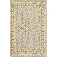 Safavieh Classic Collection CL933A Handmade Traditional Oriental Light Blue and Ivory Wool Area Rug (3 x 5)