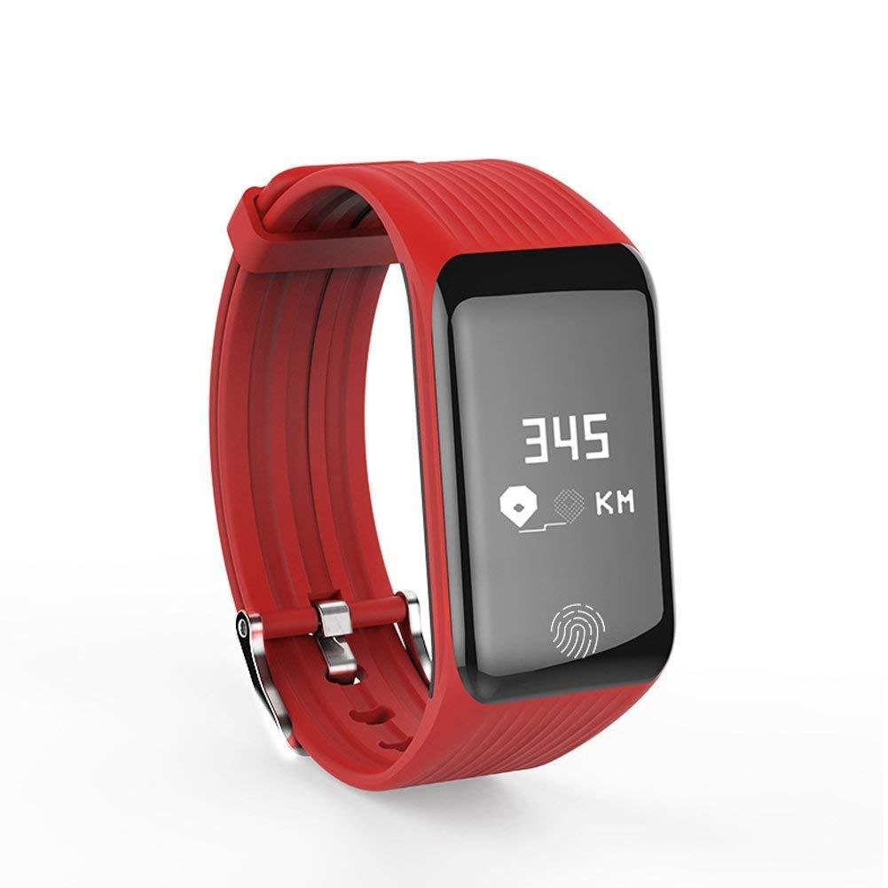Red Smart Bracelet, Sleep Health Monitoring Waterproof Bracelet