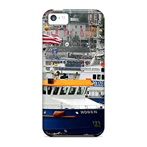 ECXveiI4358fQRiL Tpu Phone Case With Fashionable Look For Iphone 5c - Police Boats by supermalls