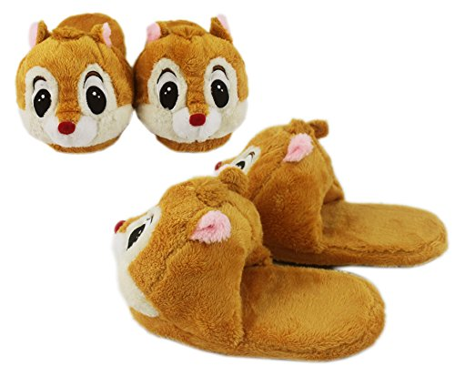 Disney's Dale Light Brown Comfy Plush House Slippers (Chip And Dale Costumes)