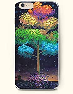 Case Cover For HTC One M8 with Design of Colorful Tree On Water - Rainbow Color Series - Authentic iPhone Skin