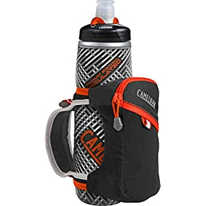 CamelBak Quick Grip Chill Handheld Water Bottle, Black/Cherry Tomato, One Size