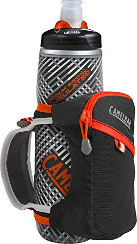 CamelBak Quick Grip Chill Handheld Water Bottle, Black/Cherry Tomato, One Size (Reese Tomato)