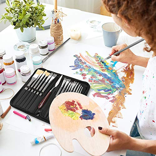 Lemecima Paint Brush Set Acrylic Paint Brushes for Acrylic Painting, Canvas Painting Acrylic Oil Watercolor, Face Nail Art, Miniature Detailing & Rock Painting