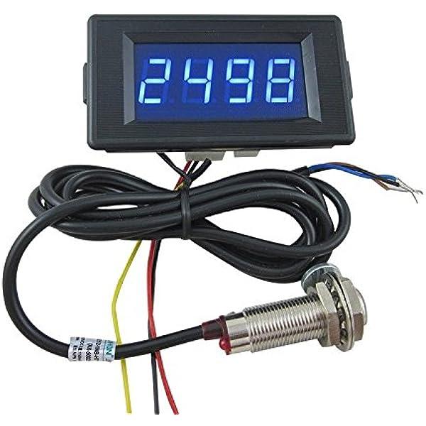 "DC12V-24V 0.56/"" Red LED Digital Counter Meter Count Timer Timing Three Function"