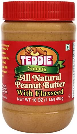 Peanut & Nut Butters: Teddie Peanut Butter with Flaxseed