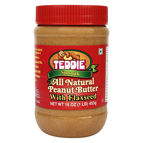 Smooth Natural (Teddie Smooth All Natural Peanut Butter with Flaxseed, 16 Ounce)