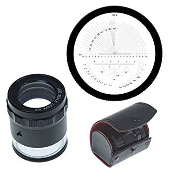 igaging 36 led10 stand measuring magnifier loupe 10x with scale led