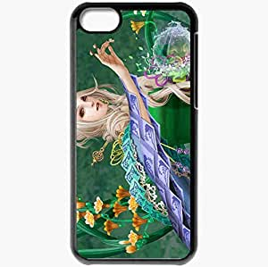 Personalized iPhone 5C Cell phone Case/Cover Skin Anima Black