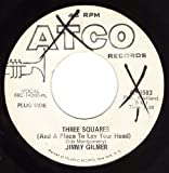 Three Squares/Baby (VG/VG+ 45 rpm) -  Jimmy Gilmer, Vinyl
