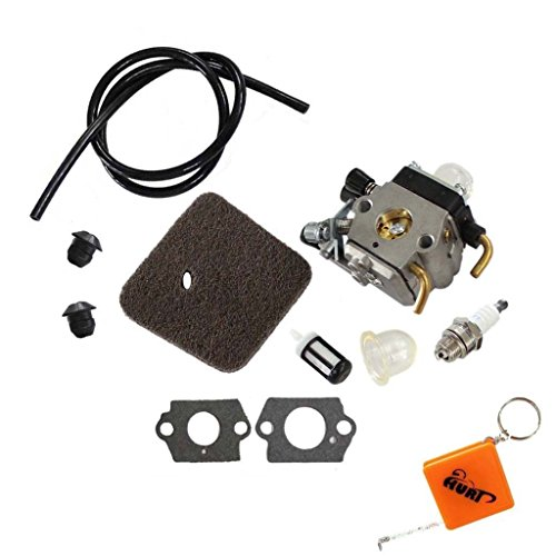 HURI Carburetor with Fuel Line Air Filter for Stihl HS45 Hedge Trimmer FC55  FS310 Zama C1Q-S169B Carb