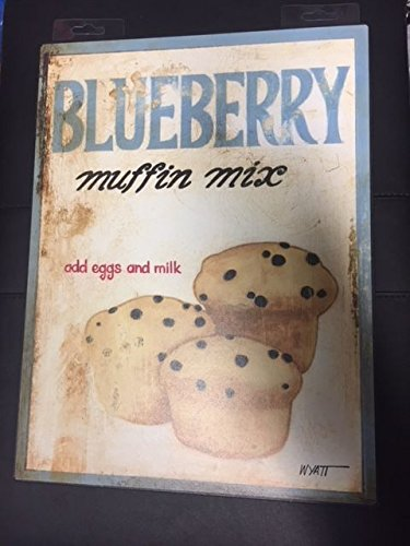 Merchandise & Memorabilia Signs Blueberry Muffin Mix metal Sign