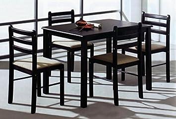 pack mesa con sillas todo de madera para comedor saln o cocinas