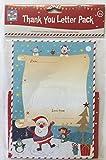10 Sheet Childrens Christmas Thank You Letters Kit - Santa's Letter Pack