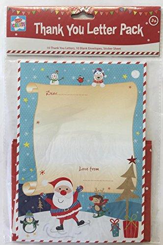 10 hoja para Navidad gracias cartas Kit - de Papá Noel Letra ...
