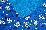 Elegant Home Blue White Brown Dogs Design Kids Soft