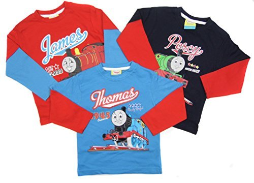 Boys 3 Long Sleeved Tops Thomas the Tank James Percy 18-24 Months