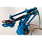Ayasa Electronics Robotic Arm With Gripper Diy Kit, All Nuts & Bolts Included, Servos Not Included.