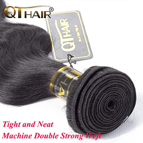 QTHAIR 10A Brazilian Virgin Body Wave 3 bundles 20'' 22'' 24'' Natural Color Unprocessed Brazilian Virgin Hair Body Wave Hair Weave Remy Wavy Wholesale Hair by QTHAIR (Image #4)
