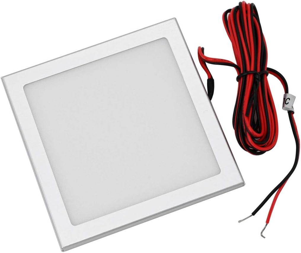VBLED/® 3er Set LED Panel mini ultra flach 12VDC 3.5W 3000K Unterbauleuchte mit Funk LED Netzteil und Fernbedienung
