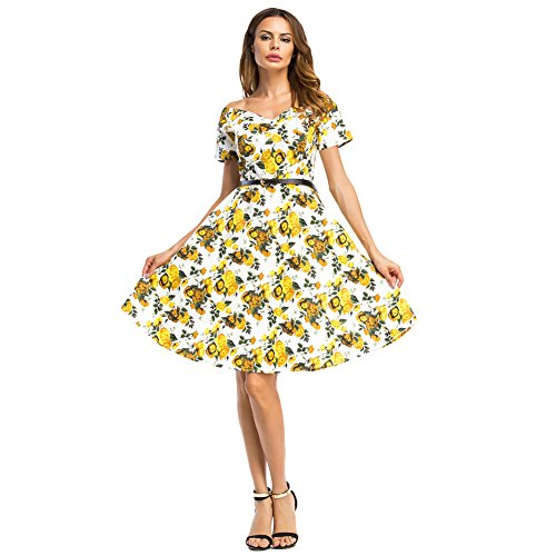 violet lover Vintage 1950's Floral Spring Garden Party Dress Cocktail Dress with ()