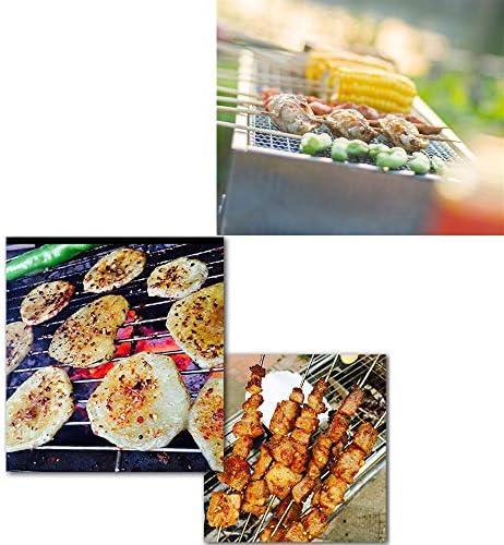 REDSHORE Barbecue de Barbecue portatif au Charbon de Bois extérieur Pliant Parfait, léger Barbecue à Barbecue pour la Cuisine Roadtrip Camping randonnée Pique-Nique (Medium)