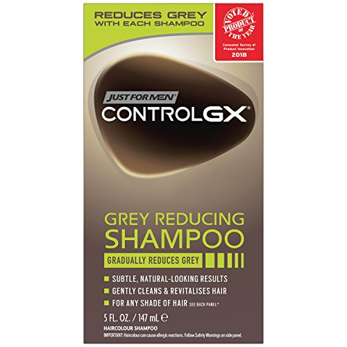 Just For Men Control GX Grey Reducing Shampoo, 5 Fluid Ounce (Good Hair Dye Colors For Dark Brown Hair)
