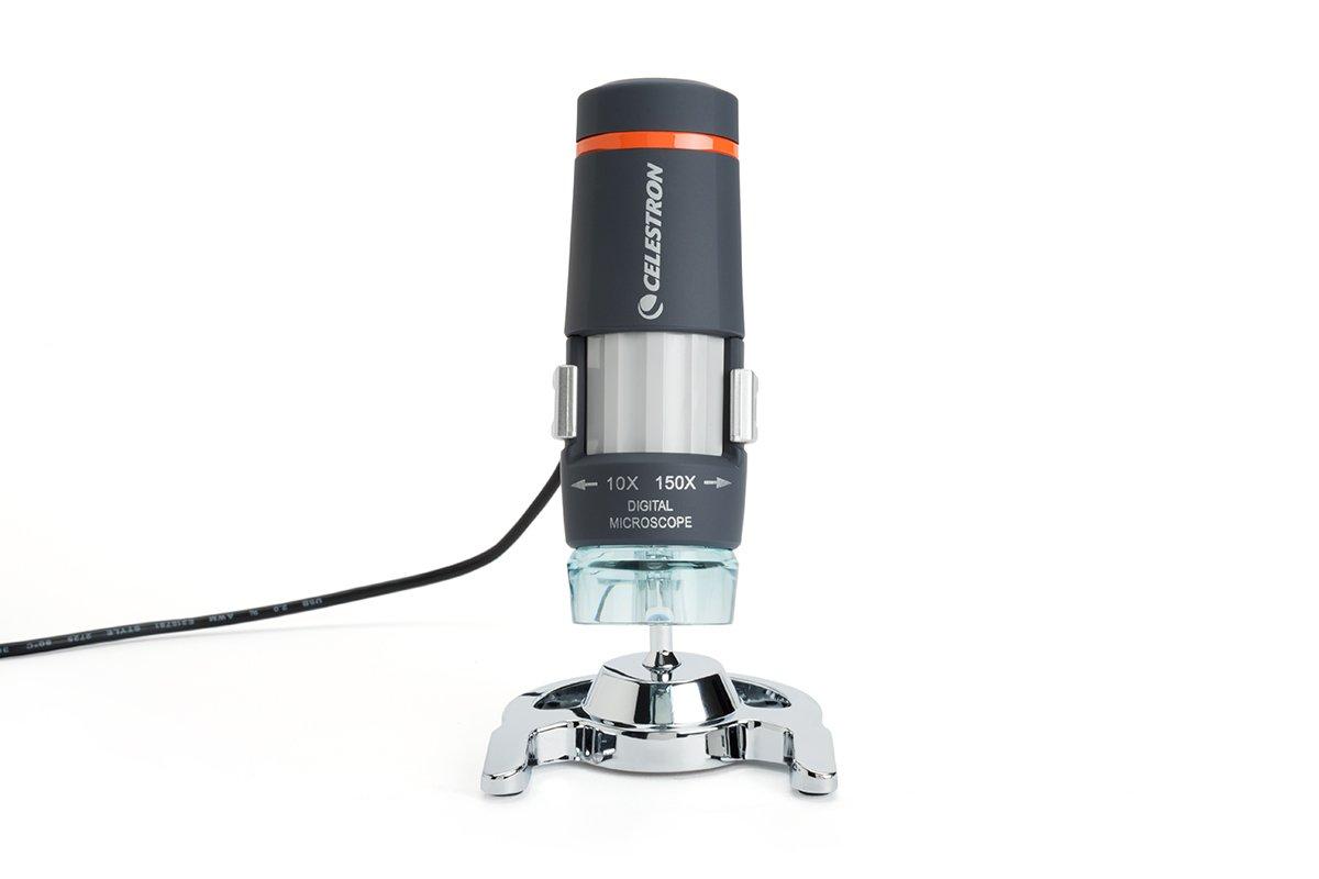 Capture Your Discoveries, 44302-C Celestron Deluxe Handheld Digital Microscope