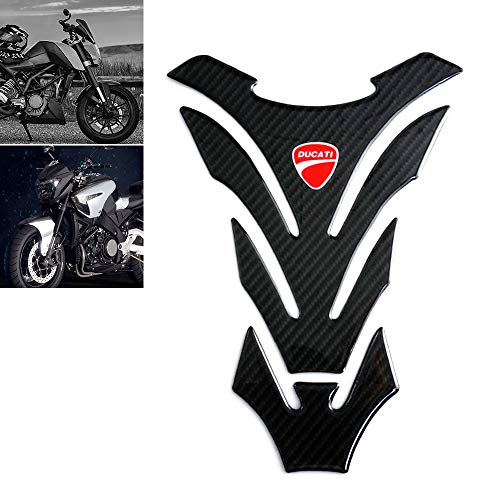 Universal Real Carbon Fiber Motorcycle Tank Pad Gas Oil Fuel Tank Pad Vinyl Decal Tank Protector Motorcycle Stickers For Ducati All Models