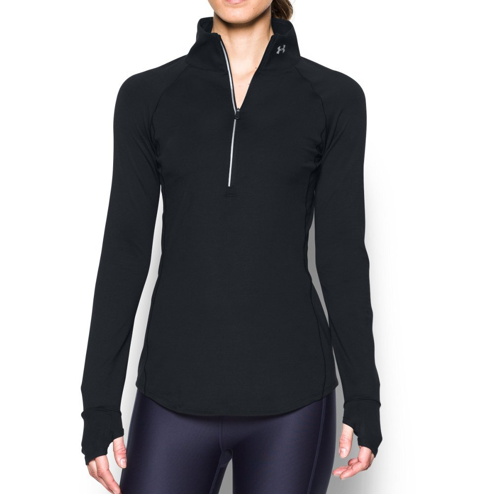 Under Armour Women's Storm Layered Up 1/2 Zip, Black/Reflective, Large