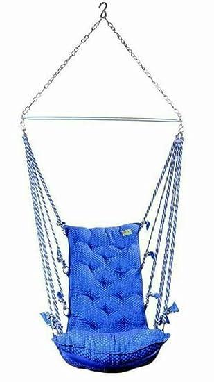 Krishna Zula Swing Hammock Blue Cotton Hammock 53 cm x 127 cm (Blue)