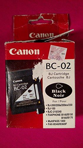 Bc 02 Black Cartridge - Canon Model BC-02 Black Cartridge