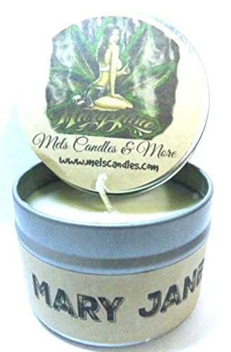 Mary Jane (Marijuana Aroma) 4oz All Natural Hand Made Soy Candle Tin Approximate Burn Time 36 Hours