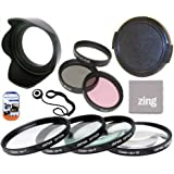 72mm Multi-Coated 7 Piece Filter Set Includes 3 PC Filter Kit (UV-CPL-FLD-) And 4 PC Close Up Filter Set (+1+2+4+10) ForNikon 18-200mm f/3.5-5.6 G ED-IF AF-S VR DX Zoom Nikkor Lens + Hard Tulip Lens Hood+ Lens Cap + Cap Keeper + MicroFiber Cleaning Cloth + LCD Screen Protectors