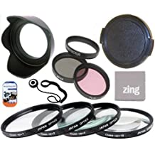 52mm Multi-Coated 7 Piece Filter Set Includes 3 PC Filter Kit (UV-CPL-FLD-) And 4 PC Close Up Filter Set (+1+2+4+10) For Nikon 55-200mm f/4-5.6G ED IF AF-S DX VR Nikkor Zoom Lens + Hard Tulip Lens Hood+ Lens Cap + Cap Keeper + MicroFiber Cleaning Cloth + LCD Screen Protectors
