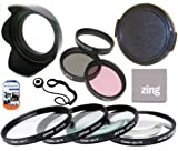 52mm Multi-Coated 7 Piece Filter Set Includes 3 PC Filter Kit (UV-CPL-FLD-) And 4 PC Close Up Filter Set (+1+2+4+10) For Canon EF 135mm f/2.8 with Softfocus Telephoto Lens + Lens Cap + Hard Tulip Lens Hood + Cap Keeper + MicroFiber Cleaning Cloth + LCD Screen Protectors