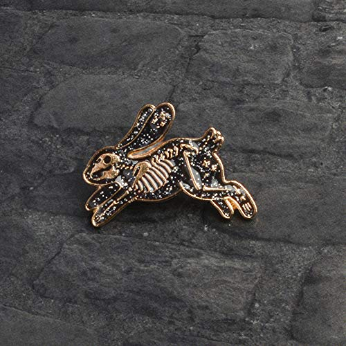 Xeminor Premium Skeleton Rabbit Enamel Pin Badges Brooches for Men Women Backpack Purse Hat Accessories by Xeminor (Image #5)