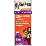 Sudafed Children's Cold and Cough Grape Liquid, 4 oz