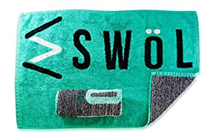 7. Swol Fitness Sports Fast Drying Gym Towel – Antimicrobial and Quick- Dry with Ultra Soft Bamboo