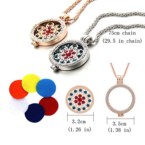 Necklace and Silver, + 6 Washable Insert Pads Gift for