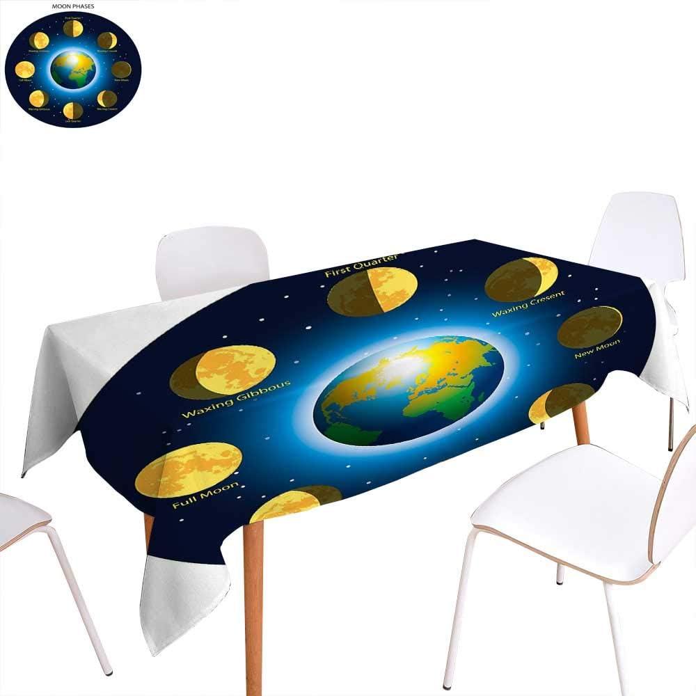 familytaste - Mantel Educativo Lavable, diseño de Dibujos Animados, fotosíntesis de oxígeno, dióxido de Carbono, luz Solar y manteles Impermeables, Color Amarillo y Verde: Amazon.es: Hogar