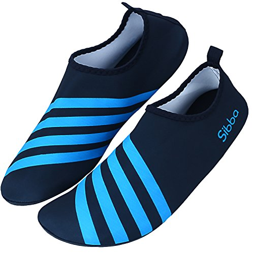 (Unisex Barefoot Water Skin Shoes for Beach Swim Surf Yoga Exercise)