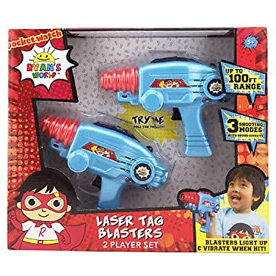 Ryans World Laser-Tag for Kids Infared Lazer-Tag Blasters Lights Up & Vibrates When Hit 3 Pack Exclusive: Toys & Games