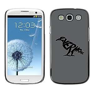 Paccase / SLIM PC / Aliminium Casa Carcasa Funda Case Cover para - NEVERMORE Raven - Samsung Galaxy S3 I9300