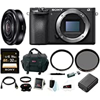 Sony a6500 Mirrorless Camera w/ 20mm Lens + 32GB Accessory Bundle