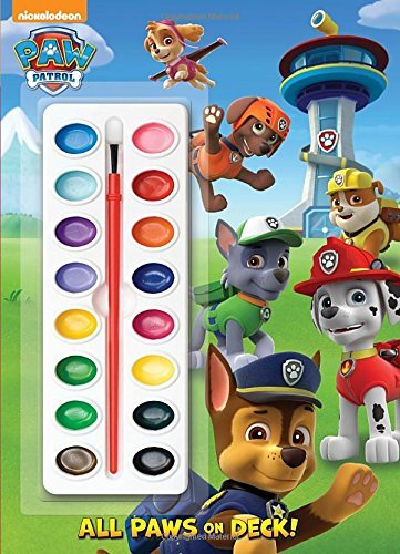 Price comparison product image [ All Paws on Deck! [With Paint Brush and Paint] Golden Books ( Author ) ] { Paperback } 2014